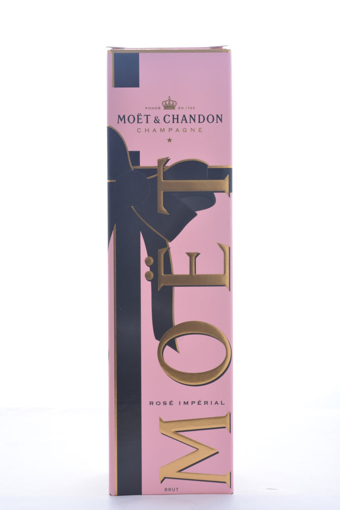 Moet & Chandon Rose Imperial Brut Champagne w/ Gift Box - 750 ML - Wine on Sale