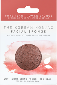 Konjac Facial Sponge - Red French Clay
