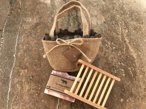 Natural handmade soap bag