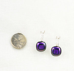 The Dichroic Earring Collection Deep Purple