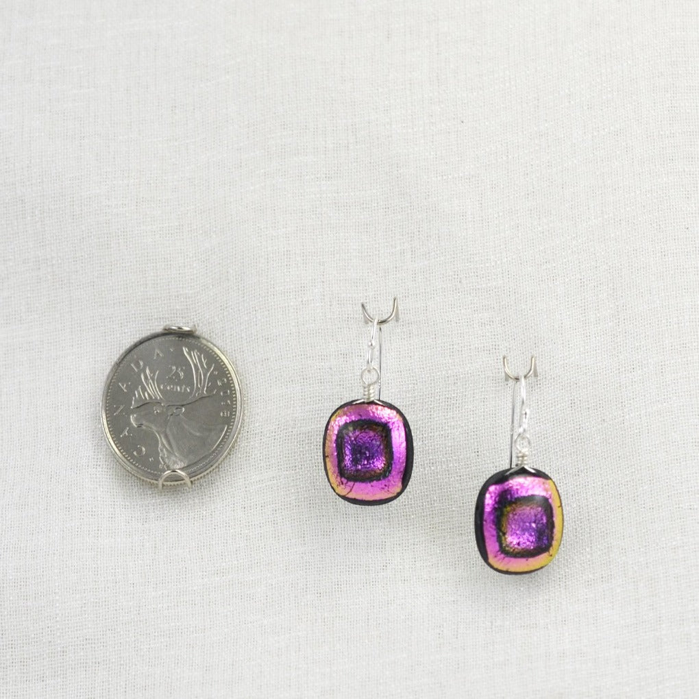 The Dichroic Earring Collection Pink
