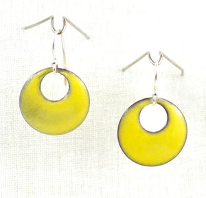 The Enamel Earring Collection Mellow Yellow