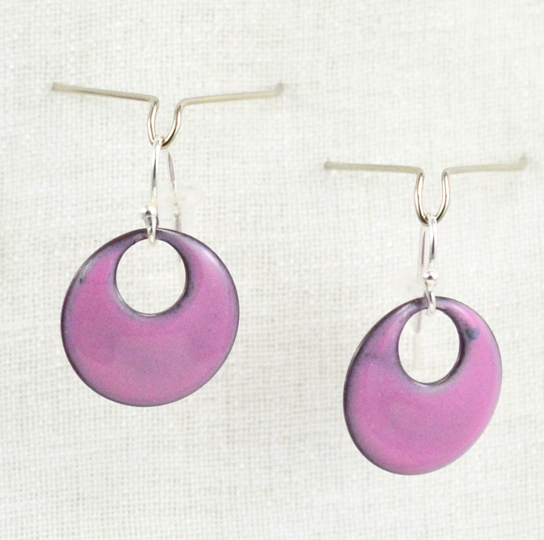 The Enamel Earring Collection Sunset Pink