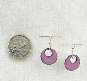 The Enamel Earring Collection Purple