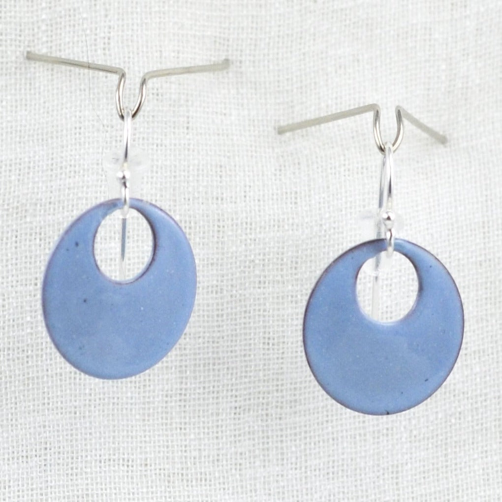 The Enamel Earring Collection Powder Blue