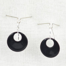 Load image into Gallery viewer, The Enamel Earring Collection Black