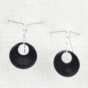 The Enamel Earring Collection Black