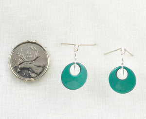 The Enamel Earring Collection Sea Green