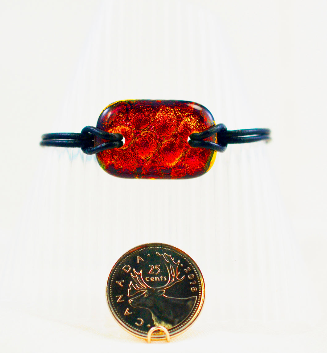 The Dichroic Bracelet Collection Reds #3