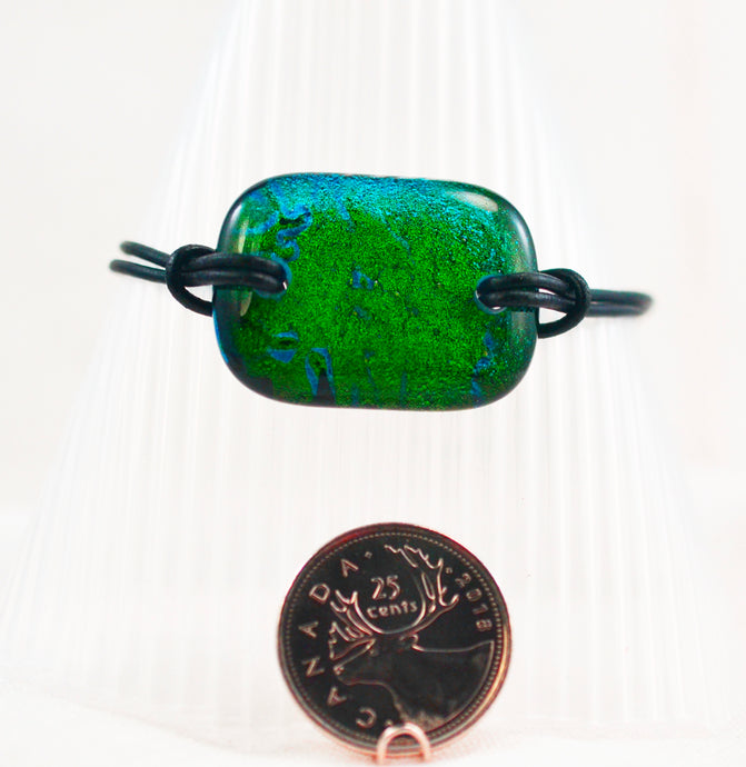 The Dichroic Bracelet Collection Greens #1