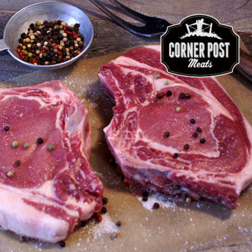 pastured pork chops - forest raised pork from Colorado