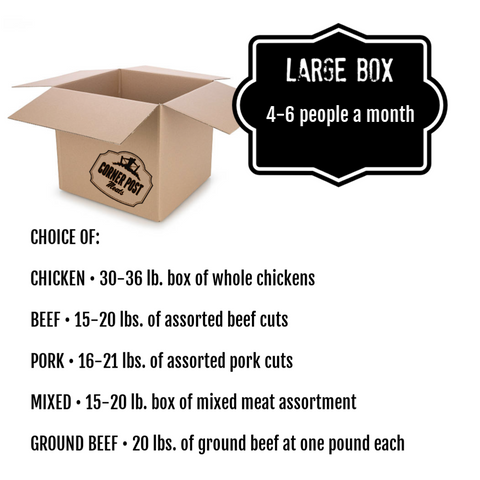 meat box delivery - large