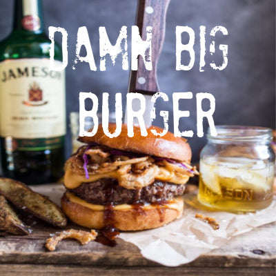 Damn Big Burger recipe from Corner Post Meats - grass fed beef burger with bacon