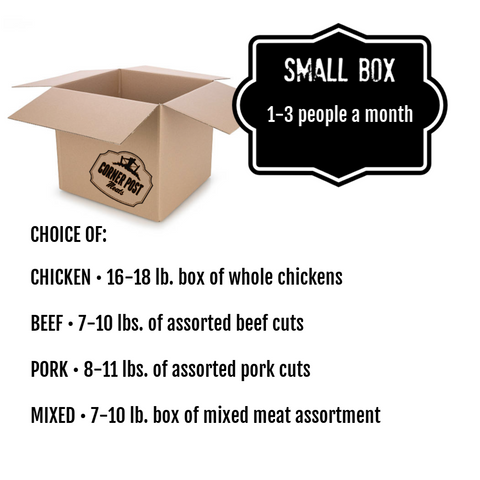 meat box delivery - small