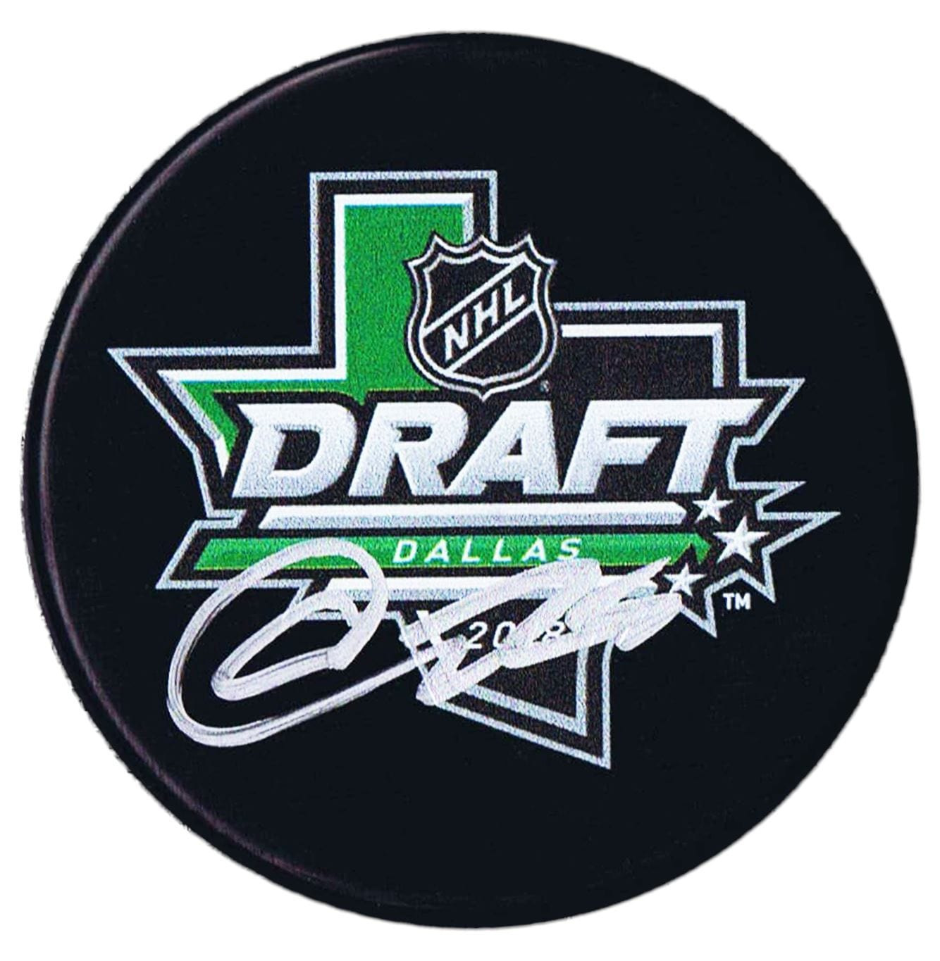 Akil Thomas Los Angeles Kings Autographed 2018 NHL Draft Puck - CoJo Sport Collectables Inc.