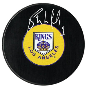 Bernie Nicholls Autographed Los Angeles Kings Puck - CoJo Sport Collectables Inc.