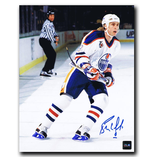 Bernie Nicholls Edmonton Oilers Autographed 8x10 Photo - CoJo Sport Collectables Inc.