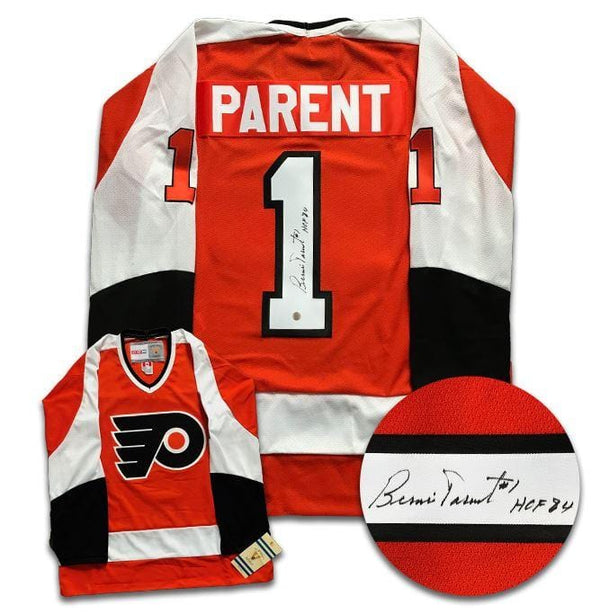 Bernie Parent Philadelphia Flyers Autographed CCM Jersey - CoJo Sport Collectables Inc.