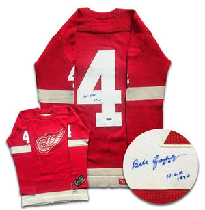 Bill Gadsby Detroit Red Wings Autographed Wool Jersey - CoJo Sport Collectables Inc.