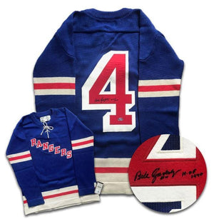Bill Gadsby New York Rangers Autographed Wool Jersey - CoJo Sport Collectables Inc.