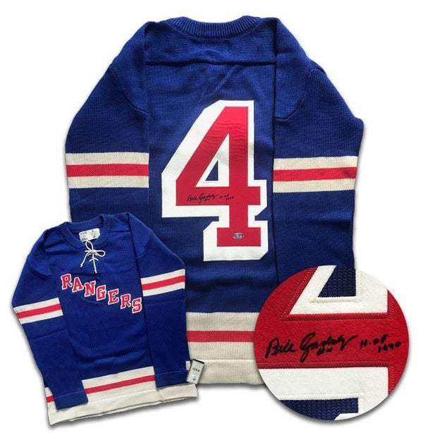 Bill Gadsby New York Rangers Autographed Wool Jersey Autographed Hockey Jerseys CoJo Sport Collectables