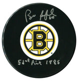 Bill Ranford Autographed Boston Bruins 52nd Pick 1985 Puck - CoJo Sport Collectables Inc.