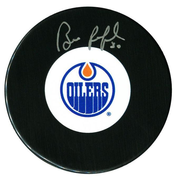 Bill Ranford Autographed Edmonton Oilers Puck - CoJo Sport Collectables Inc.