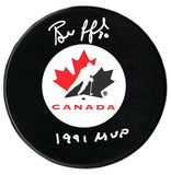 Bill Ranford Autographed Team Canada 1991 MVP Puck - CoJo Sport Collectables Inc.