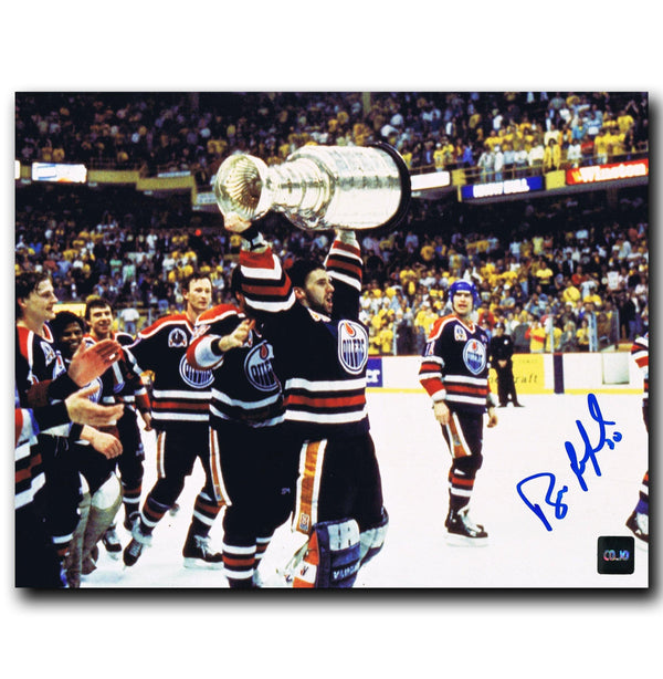Bill Ranford Edmonton Oilers Autographed Stanley Cup 8x10 Photo - CoJo Sport Collectables Inc.