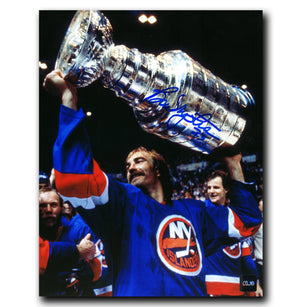 Bob Nystrom New York Islanders Autographed Stanley Cup 8x10 Photo - CoJo Sport Collectables Inc.