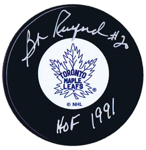 Bob Pulford Autographed Toronto Maple Leafs HOF Puck - CoJo Sport Collectables Inc.