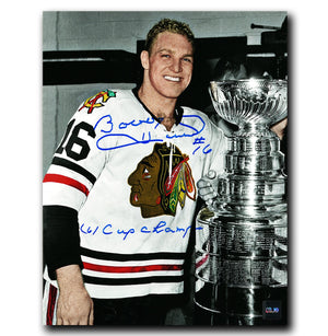 Bobby Hull Chicago Blackhawks Autographed 1961 Stanley Cup Champions 8x10 Photo - CoJo Sport Collectables Inc.