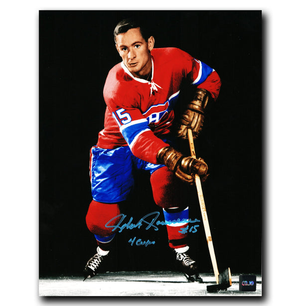 Bobby Rousseau Montreal Canadiens Autographed Spotlight 8x10 Photo