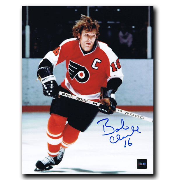new concept 4f685 48cd3 Bobby Clarke Philadelphia Flyers Autographed Action 8x10 Photo