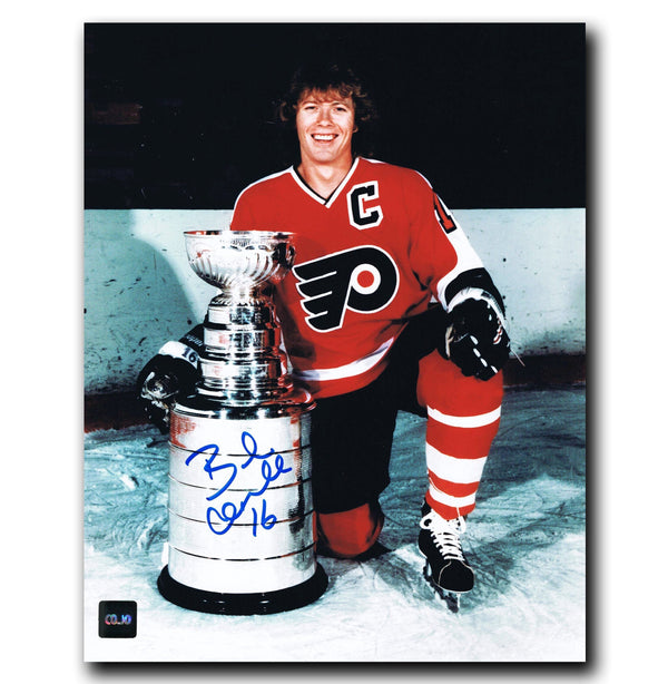 Bobby Clarke Philadelphia Flyers Autographed Stanley Cup 8x10 Photo - CoJo Sport Collectables Inc.