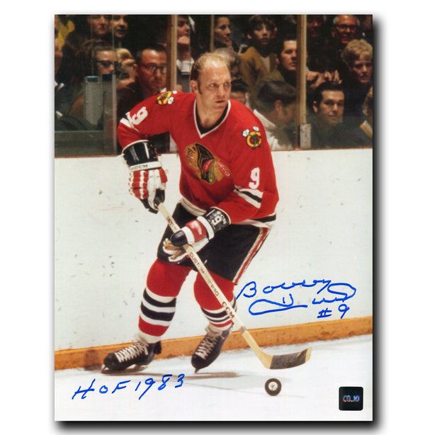 Bobby Hull Chicago Blackhawks Autographed 8x10 HOF Photo