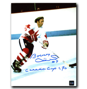Bobby Hull Team Canada Autographed Canada Cup 72 8x10 Photo