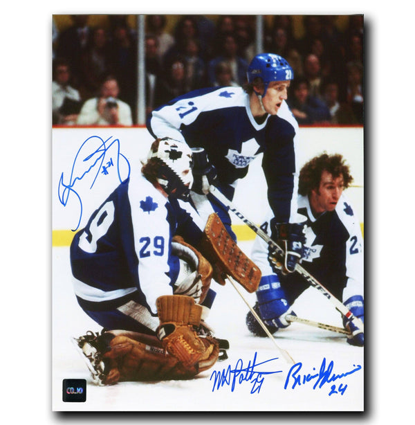 Borje Salming, Mike Palmateer, Brian Glennie Toronto Maple Leafs Autographed 8x10 Photo - CoJo Sport Collectables Inc.