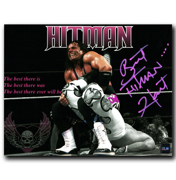 Bret 'The Hitman' Hart WWE Autographed 8x10 Photo - CoJo Sport Collectables Inc.