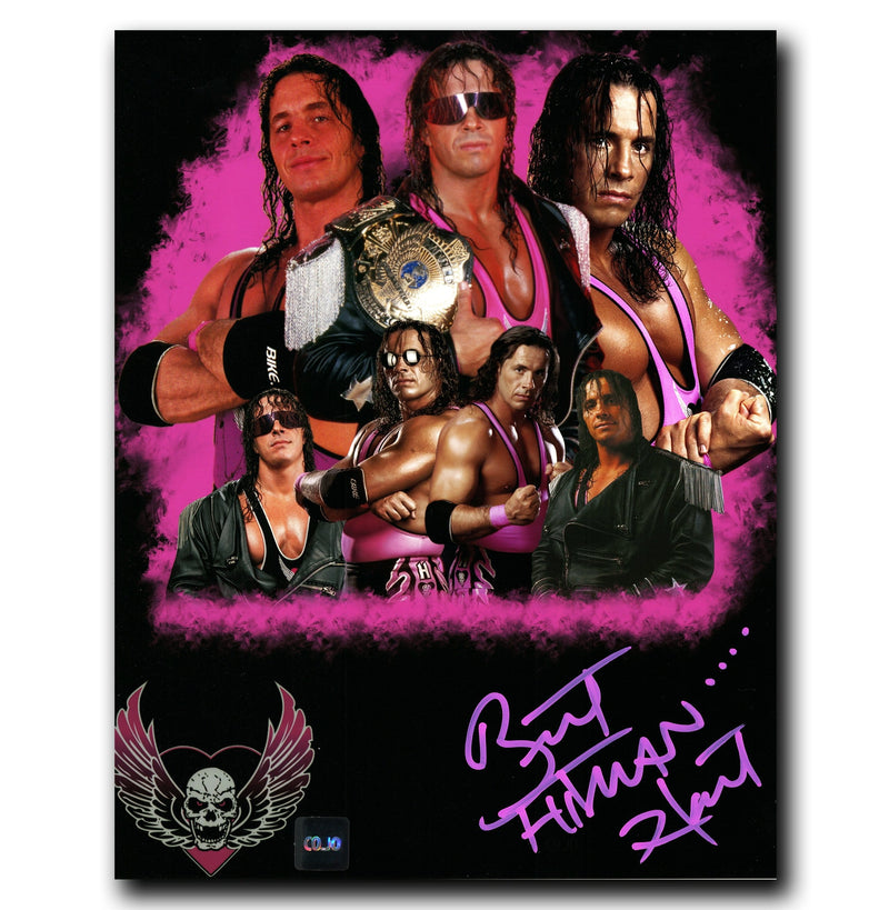 Bret 'The Hitman' Hart WWE Autographed Collage 8x10 Photo - CoJo Sport Collectables Inc.