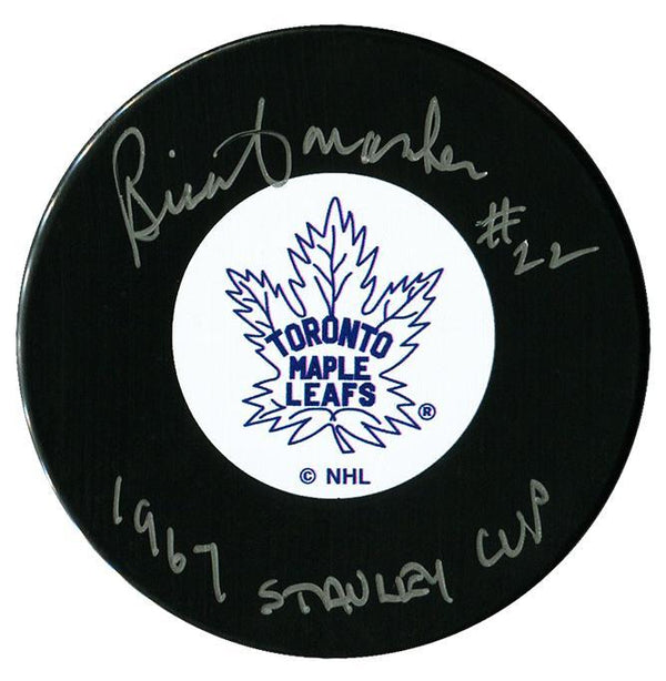 Brian Conacher Autographed Toronto Maple Leafs Stanley Cup Puck - CoJo Sport Collectables Inc.