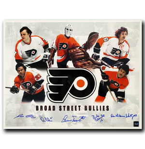 Broad Street Bullies Philadelphia Flyers Autographed Limited Edition 16x20 Photo - CoJo Sport Collectables Inc.
