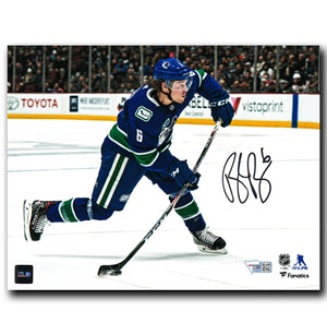 Brock Boeser Vancouver Canucks Autographed Shooting 8x10 Photo
