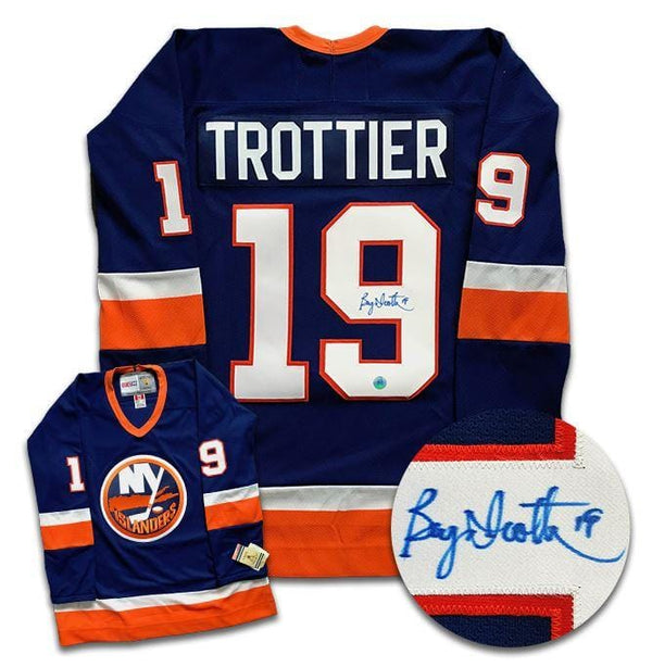 Bryan Trottier New York Islanders Autographed CCM Jersey - CoJo Sport Collectables Inc.