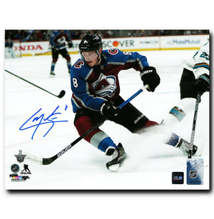 Cale Makar Colorado Avalanche Autographed Stopping 8x10 Photo