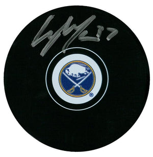 Casey Mittelstadt Autographed Buffalo Sabres Puck Autographed Hockey Pucks CoJo Sport Collectables