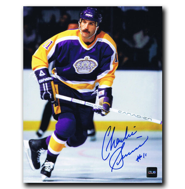 Charlie Simmer Los Angeles Kings Autographed 8x10 Photo - CoJo Sport Collectables Inc.