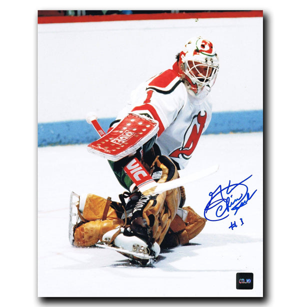 Chico Resch New Jersey Devils Autographed 8x10 Photo - CoJo Sport Collectables Inc.