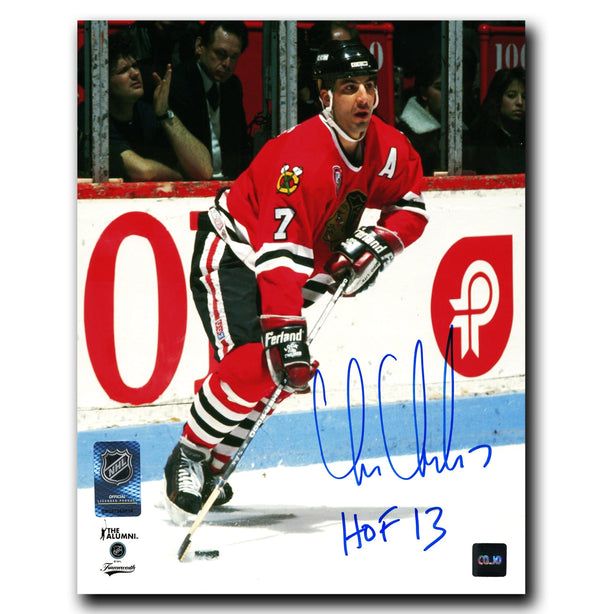 Chris Chelios Chicago Blackhawks Autographed HOF 8x10 Photo - CoJo Sport Collectables Inc.