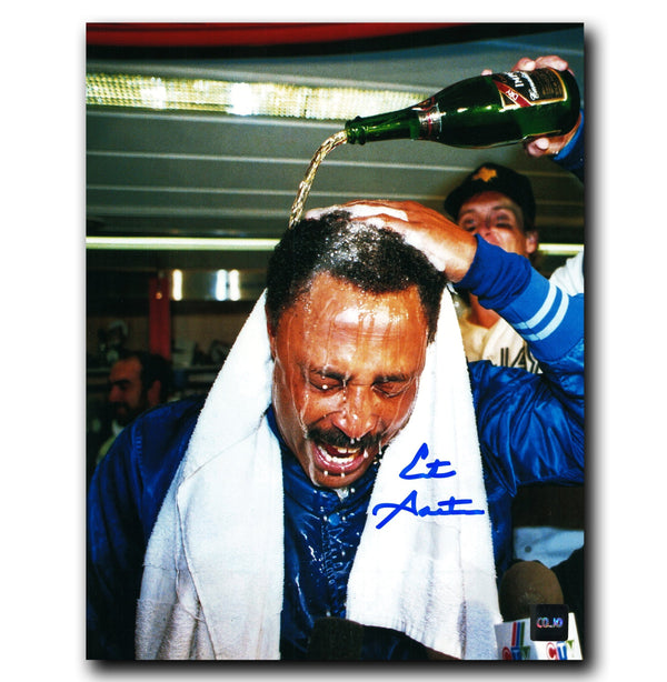 Cito Gaston Toronto Blue Jays Autographed Celebration 8x10 Photo - CoJo Sport Collectables Inc.